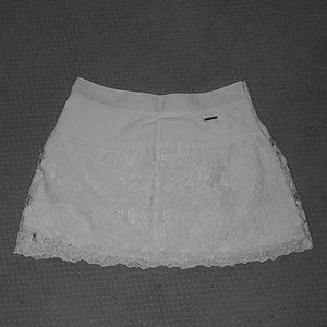 Abercrombie & Fitch layered lace skirt.